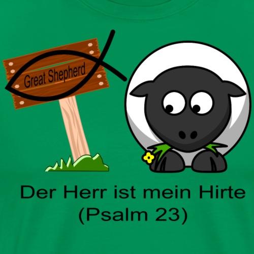 Der Herr ist mein Hirte (Psalm 23) - Bibel - Männer Premium T-Shirt