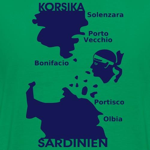 Korsika Sardinien Mori - Männer Premium T-Shirt