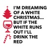 Ik droom van een witte kerst - Vrouwen Premium T-shirt