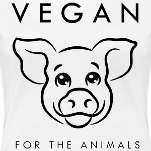 Vegan for the animals - Premium-T-shirt dam