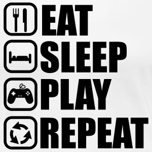 EAT SLEEP PLAY GEEK GAMER GAMING - Frauen Premium T-Shirt