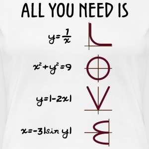 All you need is Love (Equations) - Frauen Premium T-Shirt