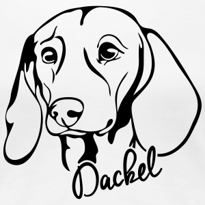 DACKEL PORTRAIT - Frauen Premium T-Shirt