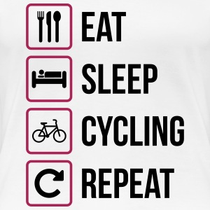 Eat Sleep Cycling Repeat - Premium-T-shirt dam