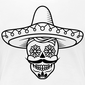 Mexican Sugar Skull head / sugarskull - Women's Premium T-Shirt