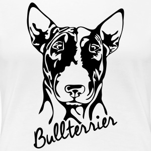 BULL TERRIER PORTRAIT - Women's Premium T-Shirt