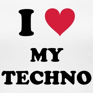 I LOVE MY TECHNO - Premium T-skjorte for kvinner