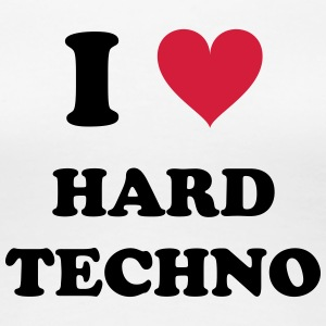 I LOVE HARD TECHNO - Vrouwen Premium T-shirt