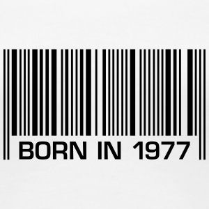 born barcode in 1977 40th birthday 40th birthday - Women's Premium T-Shirt