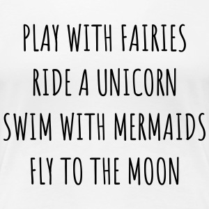 Fairies, Unicorn Mermaids OW - Premium-T-shirt dam