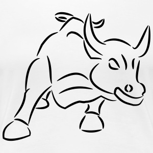 Bull Ride the Bull Bull Market - Premium-T-shirt dam