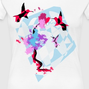 Hummingbird Art - Premium T-skjorte for kvinner