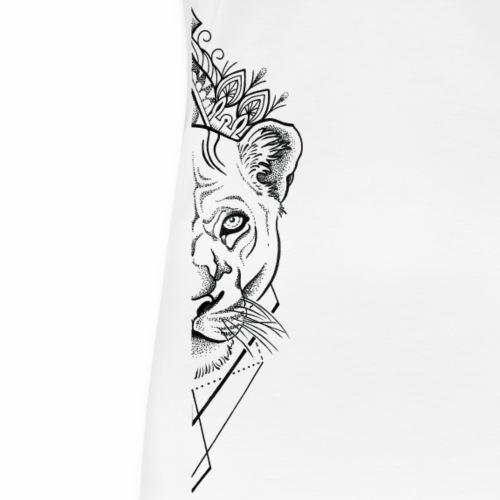 white lion half - Frauen Premium T-Shirt