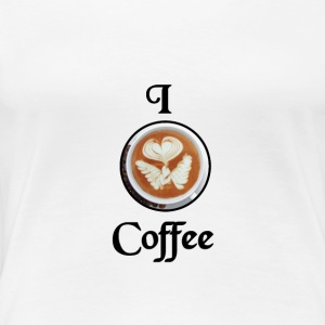 I Heart Coffee - Premium T-skjorte for kvinner