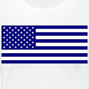American_flag_blue1 - Women's Premium T-Shirt