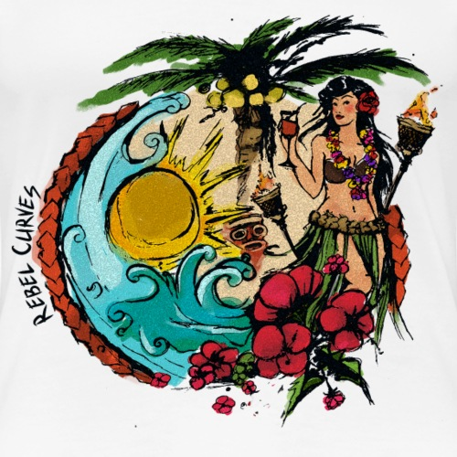 Rebel Curves Hula PinUp - Frauen Premium T-Shirt
