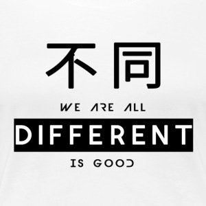 Different is goed - Vrouwen Premium T-shirt