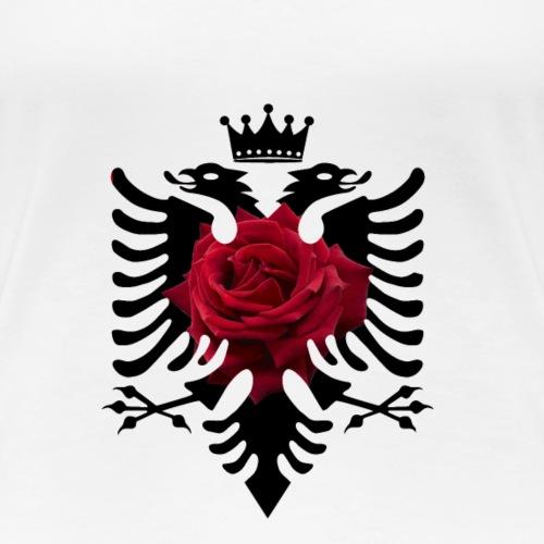 albanische Shirt mit doppelkopfadler rose krone - Frauen Premium T-Shirt
