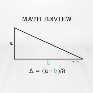 Math Review Triangle - Maglietta Premium da donna