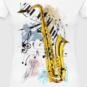 saxofoon Magic - Vrouwen Premium T-shirt