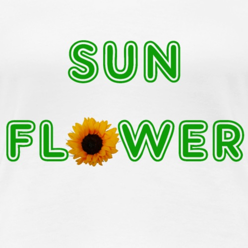 Sunflower Design - Frauen Premium T-Shirt
