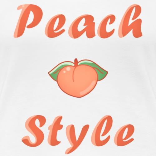 Peach style goût fruité - T-shirt Premium Femme