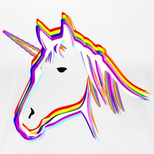 Unicorn Rainbow - Premium-T-shirt dam