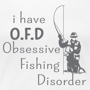 I'm obsessed, obsessed with fishing - Women's Premium T-Shirt