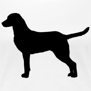 Chesapeake Bay Retriever Silhouette - Frauen Premium T-Shirt