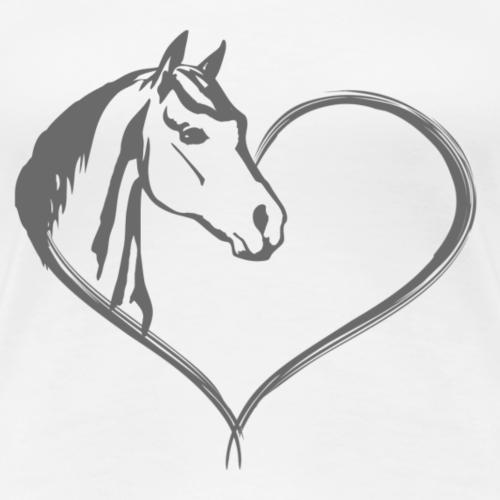 Coeur de cheval - T-shirt Premium Femme