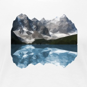 Mountains Low Poly - Women's Premium T-Shirt