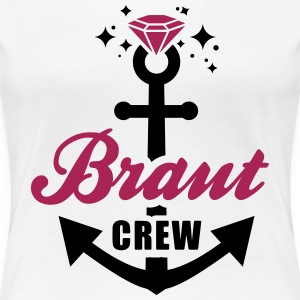 JGA T-Shirt - Team Braut - Braut Crew - Braut - Frauen Premium T-Shirt
