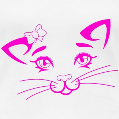 Kiky Cat pink - Frauen Premium T-Shirt