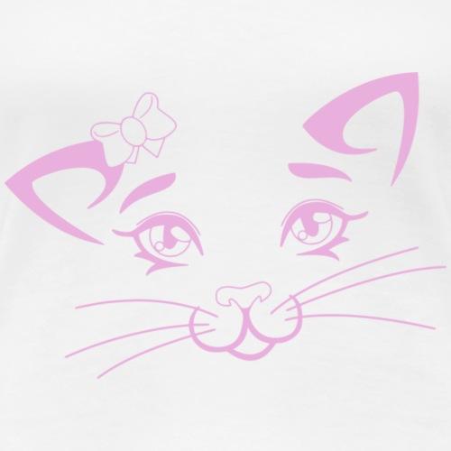 Kiky Cat rosa - Frauen Premium T-Shirt