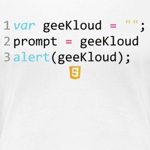 JavaScript-kod - GeeKloud - Premium-T-shirt dam