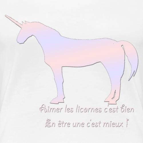Vie de licorne - T-shirt Premium Femme