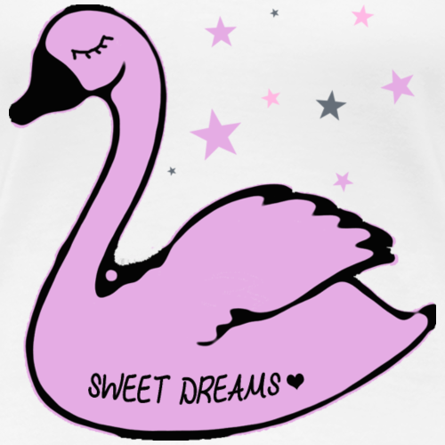 swan sweet dreams - Frauen Premium T-Shirt