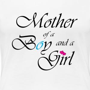 Stolze Mama eines Sohnes und einer Tochter T-Shirt - Frauen Premium T-Shirt