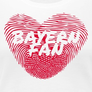 coeur d'empreintes digitales Bayern Fan Love Heart - T-shirt Premium Femme
