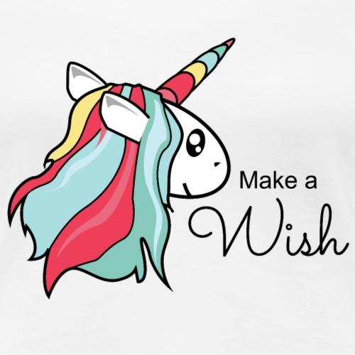 Make a Wish Einhorn - Frauen Premium T-Shirt