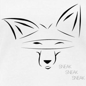 SneakyFox black - Women's Premium T-Shirt