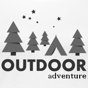 Outdoor Adventure Camp - Premium-T-shirt dam