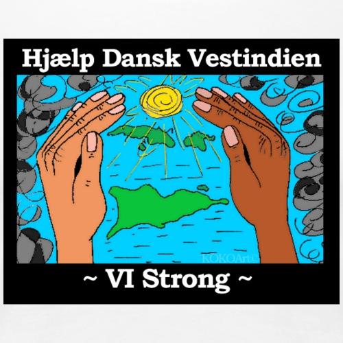 Hjælp Dansk Vestindien - Dame premium T-shirt