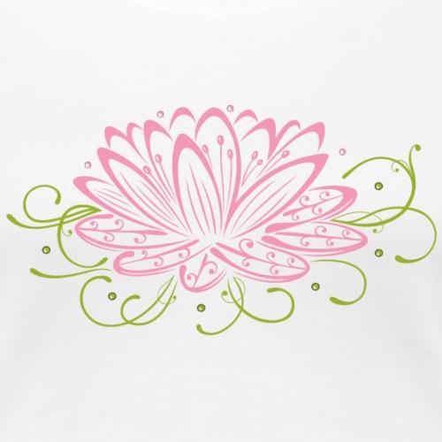 Große Lotusblüte mit filigranen Verzierungen. - Frauen Premium T-Shirt