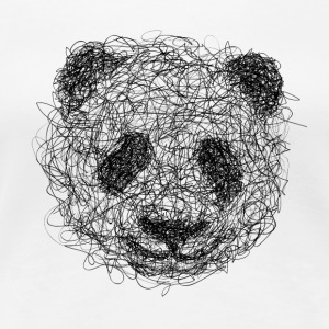 Panda Scribble - Women's Premium T-Shirt