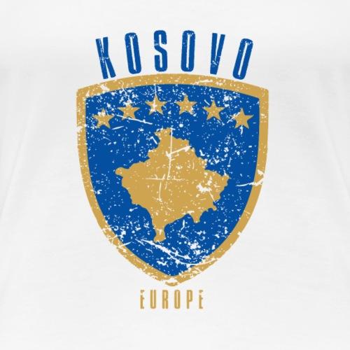 Kosovo Wappen shirt geschenk für mann und Frau - Frauen Premium T-Shirt