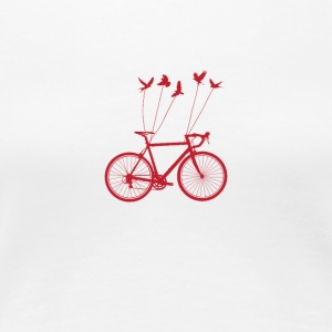 BIKE BIRDS - Frauen Premium T-Shirt