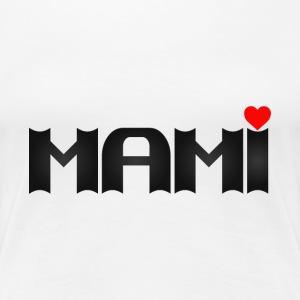 MAMI eckig mit Herz - Frauen Premium T-Shirt