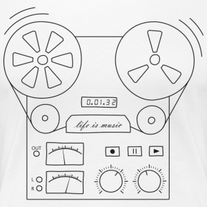 magnetic tape recorder - Women's Premium T-Shirt