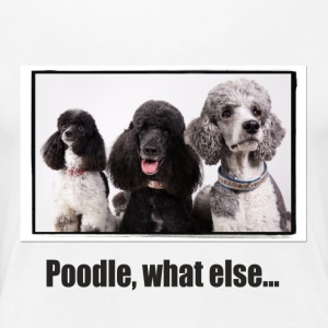 Poodle, what else ... - Women's Premium T-Shirt